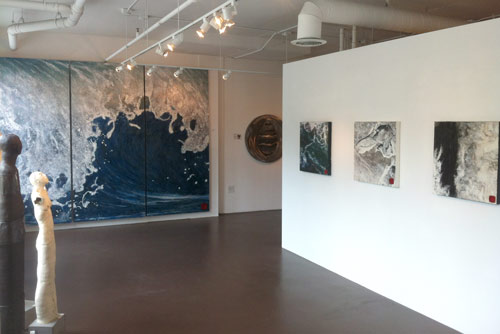 View of Wave and works from Earth+Sky series at MMCA Gallery
