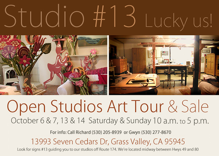 Open Studios & Art Tour of Western Nevada County 2012