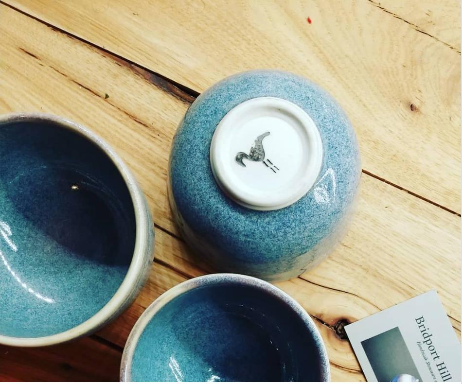 blue cup trio